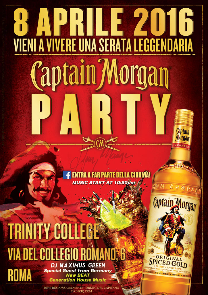 Captain Morgan Party Friday April Th