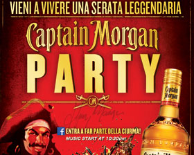 Captain Morgan Party, friday april 8th