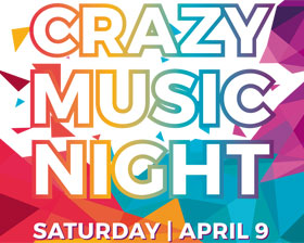 Crazy Music Night, saturday april 9