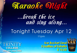 Karaoke Night 13 April